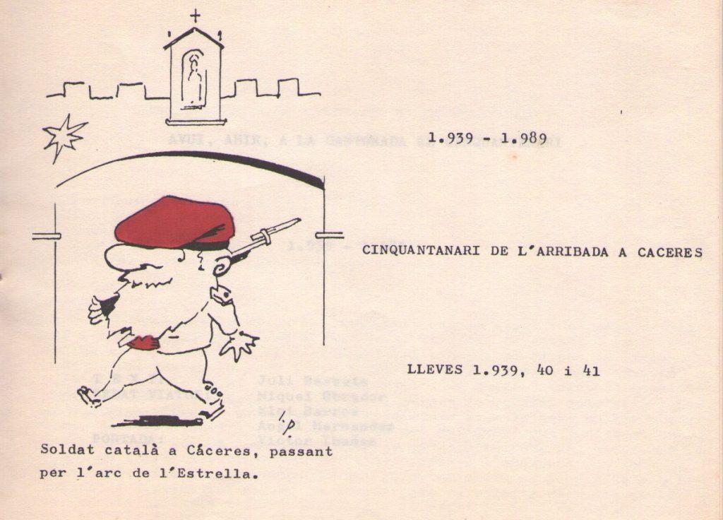 Soldado catalán pasando bajo el Arco de la Estrella