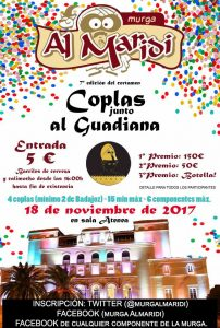 Cartel de la VII Gala Coplas junto al Guadiana