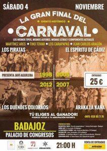 Cartel Gran Final del Falla en Badajoz