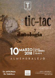 Cartel actuación Tic Tac Tic Tac en Almendralejo