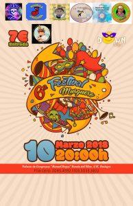Cartel VI Festival murguero a favor de Down Badajoz