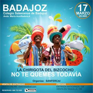 Cartel actuación No te quemes todavía en Badajoz