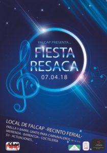 Cartel Fiesta de la resaca de la FALCAP