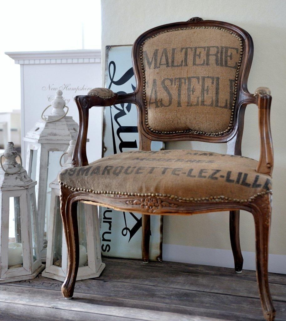 C mo decorar con sacos de caf red decora blogs - Como tapizar sillas antiguas ...