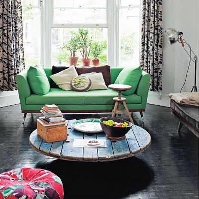 C mo hacer un mueble con una bobina industrial red for Como reciclar una mesa de tv vieja