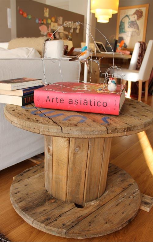 Cómo hacer un mueble con una bobina industrial. | red-DECORA - Blogs ...