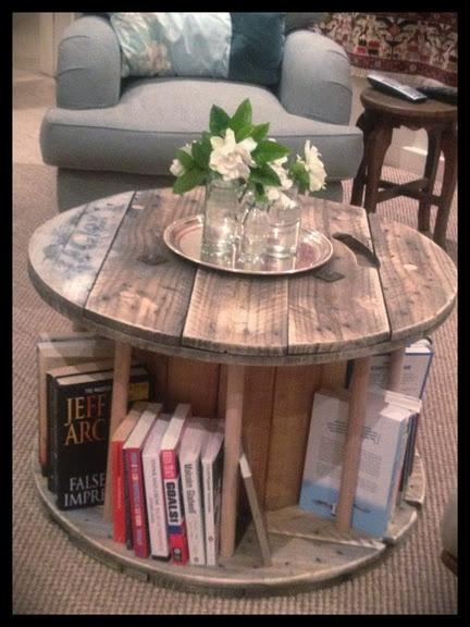 C mo hacer un mueble con una bobina industrial red for Como se pone la mesa