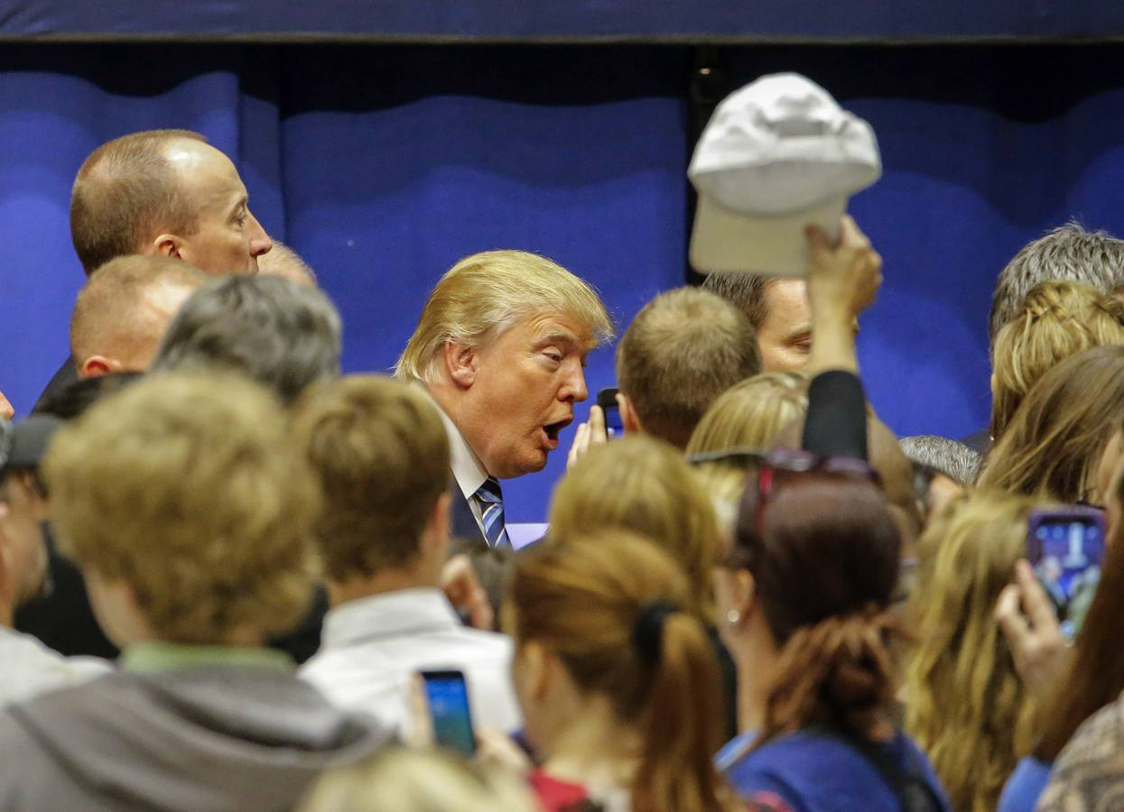 Donald Trump, en un acto en la Universidad de Wofford en Spartanburg, Carolina del Sur. EFE