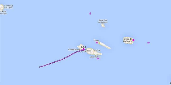 Trayecto de nuestro barco, cuando es captada la señal de radio VHF, ya estamos visibles en los mapas!