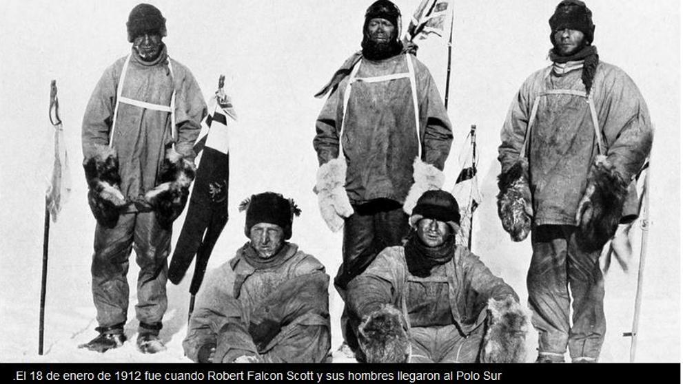 Robert Falcon y sus hombres llegan al Polo Sur. Pero se derrumban al ver la bandera noruega