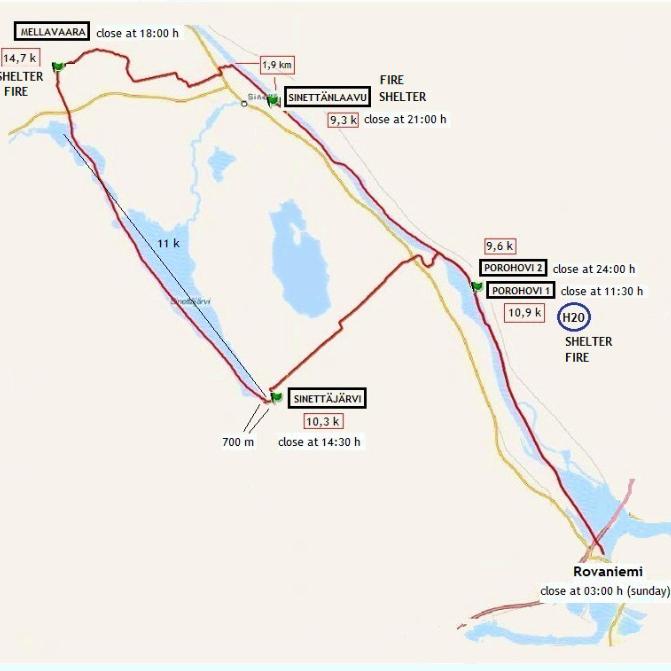 Track de la prueba de 66 kilómetros