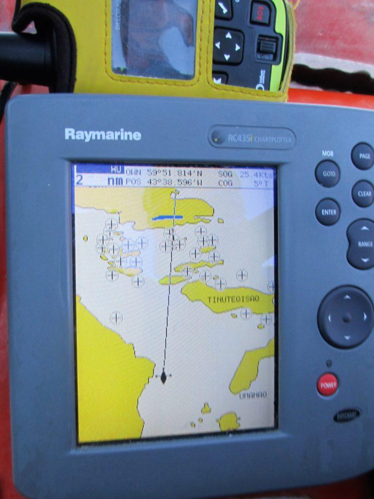 En la carta náutica podemos apreciar la poca falta de información de esta tierra tan inhóspita.