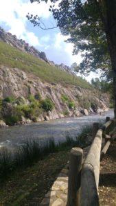 Río Ruecas, afluente del Guadiana, a su paso cerca de Cañamero.